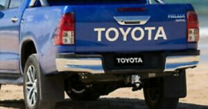 TOYOTA hilux rear tailgate sticker - crome