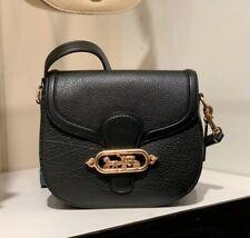 NWT Coach Leather Jade Saddle Bag IM/BLACK 91397