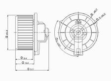 HVAC Blower Motor Front TYC 700057