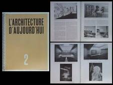 L'ARCHITECTURE D'AUJOURD'HUI n°2 1936 LE BOURGET, MALLET STEVENS,CINEMA,PERRIAND