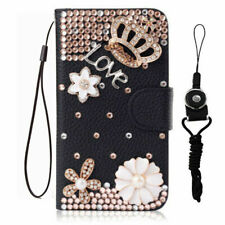 For LG Stylo 6 Bling crown Wireless Leather flip wallet Phone cover Skin case