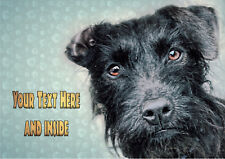 PERSONALISED PATTERDALE TERRIER BIRTHDAY FATHERS DAY ANY OCCASION CARD + insert