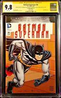 DC Comic BATMAN SUPERMAN #30 CGC SS 9.8 Original Art Sketch JUSTICE WONDER WOMAN