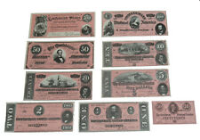 American Civil War Replica Confederate Currency Paper Money { Issue Of 1864 }