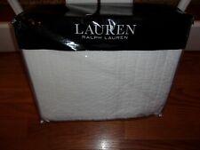 Nip Raph Lauren Devon Channel Pick Stitch Off White King Coverlet Quilt $300