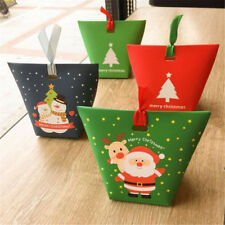 2/20xChristmas Paper Bags Boxes Favour Present Sweets Candy Carrier Xmas Party