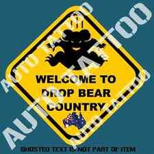 DROP BEAR COUNTRY DECAL STICKER PATRIOTIC AUSTRALIANA AUSSIE DECALS STICKERS