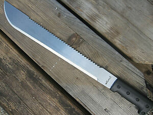 XL Stahl MACHETE Messer Survival BUSCHMESSER  SÄGE Beil Outdoor Angeln Jagd Mi 1