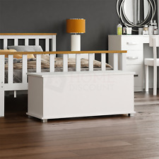 Leon Storage Ottoman Chest White Toy Chest Bedding Blanket Box Large Wooden