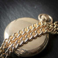 Stunning Vintage Looking 9ct Rolled Gold Double Albert Chain