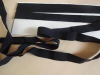 1,20€/m Gummiband,Falzgummi,Einfasgummi,Foldover Gummi  schwarz matt 3mx16mm