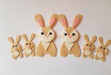 Felt Rabbit Family Embellishments.Die cuts