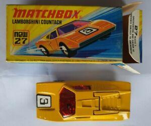 Matchbox Diecast Vintage Car: Lamborghini Countach 27 Superfast