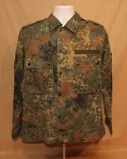 GERMAN MILITARY FLECTAR CAMO BUTTON & ZIP UP FIELD SHIRT JACKET SIZE MENS MEDIUM