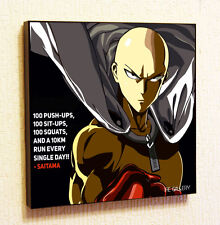 Saitama One Punch Man Anime Manga Painting Decor Print Wall Poster Canvas Art