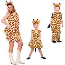Giraffenkostüm Damen + Kinder Plüsch Kostüm Giraffen-Familie Fasching Karneval