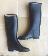 Cottage Craft Riding Boots Paris Black Rubber Tall Padded Equestrian Sz 44 XL