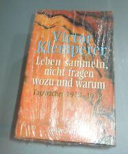 """VICTOR KLEMPERER - TAGEBÜCHER - """"LEBEN SAMMELN, NICHT FRAGEN ..."""" 1918-1932"""