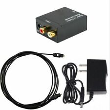 Digital Optical Coax to Analogs RCA L/R Audio Converter Adapter with Cable USA