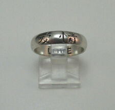 "STERLING SILVER "" LOVE "" JAPANESE ETCHED RING SZ 7.25 MARKED TMA THAILAND **"