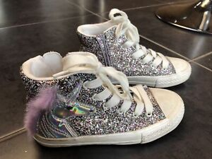 Next Girls Size 13 Infant Glitter Unicorn Boots