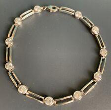 """Diamanté & Sterling Silver Bracelet 19cm / 7.5"""""""