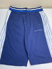 Bad Boy Athletics Men's XXL Shorts Blue White Pinstripe Cotton Drawstring Waist