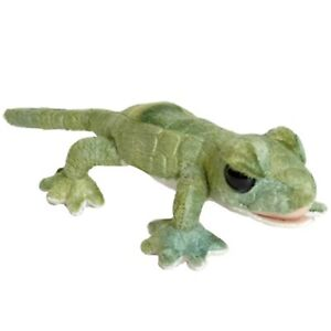 Rainforest Green Gecko Brown Stuffed Animal Plush Toy 25cm **FREE DELIVERY**