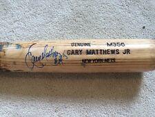 Gary Matthews Jr New York Mets Signed Autographed Cracked Baseball Bat MLB