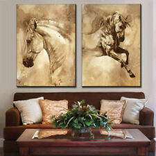 LMOP49 2pcs Modern 100% hand painted Wall Art Oil Paintings Horse On Canvas
