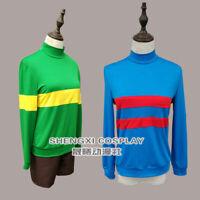 Undertale Chara Frisk Cosplay Costume Shirts  Pullover Sweatshirt Shorts Pants