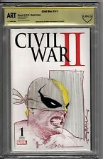 Marvel Civil War 2 Blank Variant #1 - CBCS ART - Jeff Dekal IRON FIST SKETCH