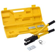 16Ton Terminal Crimper Cable Lug Hydraulic Wire w/ Dies & Box Industrial Tools