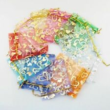 500pcs Organza Candy Bags Wedding Party Heart Gift Jewellery Favor Pouches Decor
