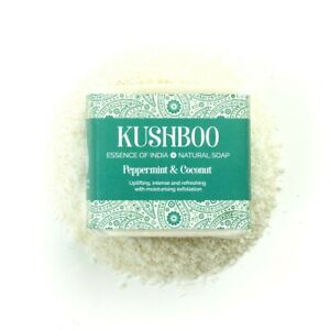Kushboo Peppermint and Coconut Vegan Soap Handmade in Britain