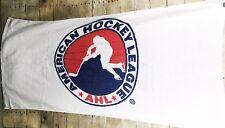Vintage American Hockey League Terry Bath Beach Towel AHL White