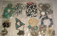 Vintage to Now Lot of 10 Necklace Fashion Costume Estate Jewelry FREE SHIPPING