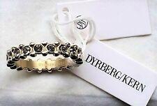 DYRBERG & KERN Steel Eternity Ring Swarovski Crystals R1/2 /IIII LARGE IN SALE!!