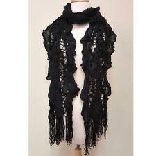 Women's Warm Winter Ruffle Long Scarf Knit Shawl Neck Wrap Cowl Fringe Infinity