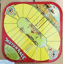 Motor Race Wolverine Supply MFG. Co. Tin Lithograph Car Board Game Checkers