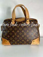 Authentic Louis Vuitton Estrela MM Monogram Canvas Leather Tote Bag