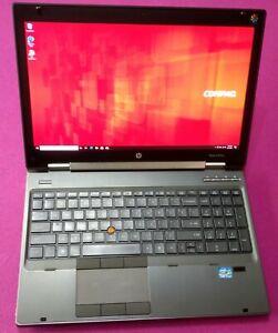 HP 8570w EliteBook I7-3820qm 2.7-3.7Ghz 12GB 512GB SSD NVIDIA K2200M DREAMCOLOR