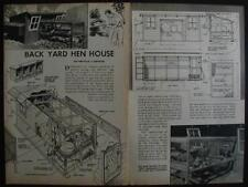 Poultry House Chicken Coop How-To build PLANS 12 Hens