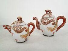 Meikei Dragon Porcelain Tea Pots Set Japan