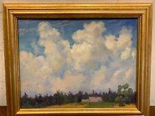 "Charles Henry Richert oil painting board ""Big Sky "" 14x18"" frame 18x22"""