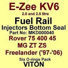 KV6 Fuel Injector BOTTOM Seals VITON O-Rings Rover 75 400 45 MG ZT ZS Freelander