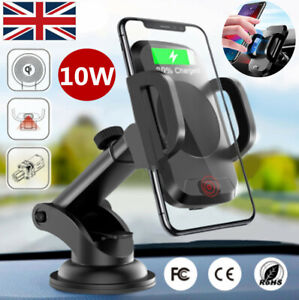 Qi Wireless Car Phone Charger Mount Stand for iPhone XR XS X 8 Samsung S8 Note 8