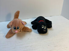 "Tonka Pound Puppies Purries Kitty Cat Brown Striped + Puppy Dog Black 7"" Vintage"
