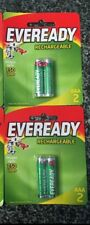 4 Eveready Rechargeable Batteries 4xAAA. Brand New.