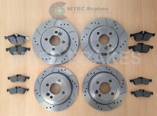 BMW MINI ONE COOPER S Drilled Brake Discs Front Rear & PADS
